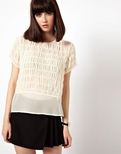 ASOS Top with Delicate Gathered Panels