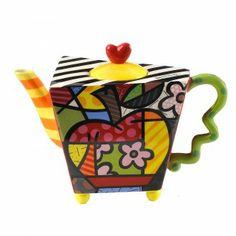 Tamborine Mountain Teapots. Apple Teapot by Romero Britto