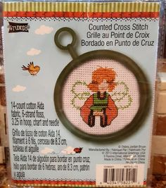 FAIRY Complete Counted Cross Stitch Kit  by by CraftyCrossStitches