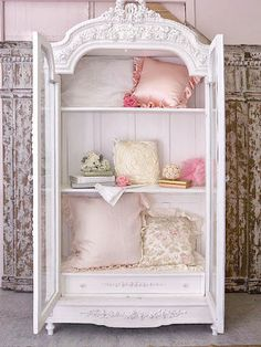 236 best shabby chic dressers wardrobes armoire s images on rh pinterest com armoire murale shabby chic armoire de rangement shabby chic