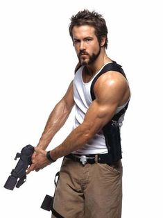 "10 Hollywood Actor Bulk-Ups by Men's Fitness Ryan Reynolds - ""we were going to go with the care bears, but that was already taken.""Ryan Reynolds - ""we were going to go with the care bears, but that was already taken. Action Pose Reference, Human Poses Reference, Pose Reference Photo, Body Reference, Action Poses, Anatomy Reference, Fighting Poses, Anatomy Poses, Figure Poses"