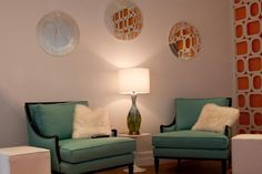 touch of turquoise with the orange room