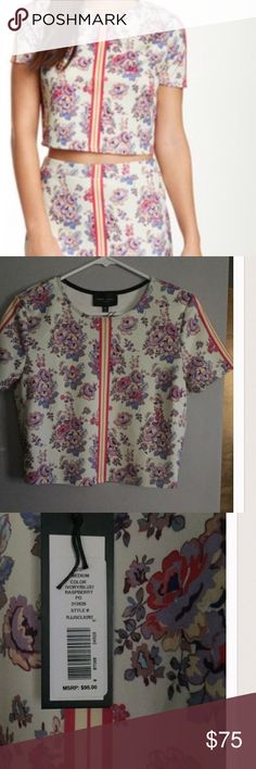 Crop Top Crop top only! New with tag floral crop top, no flaws. Will consider offers. Romeo & Juliet Couture Tops Crop Tops