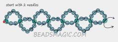 Free pattern for necklace Liora | Beads Magic - . U need pearl beads 4 mm and bicon  6 mm.