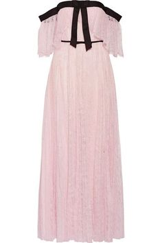 Giambattista Valli - Off-the-shoulder Chantilly Lace Gown - Pastel pink - IT