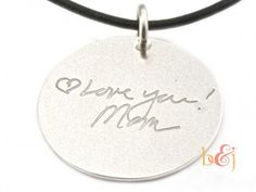 The Love Note Signature Series Pendant - by Brent & Jess Custom Handmade Fingerprint Wedding Rings and Jewelry