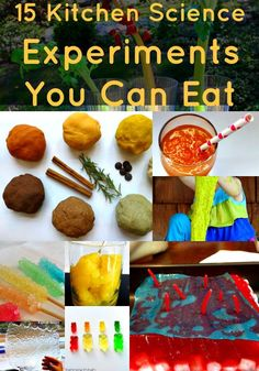 15 Kitchen Science Experiments You Can Eat is part of Science Party Watches - No one ever said that learning can't be fun We have collected 15 fun Kitchen Science Experiments that You Can Eat Fun, educational, and really tasty! Chemistry For Kids, Kitchen Chemistry, Kitchen Science, Science For Kids, Science Fun, Elementary Science, Science Ideas, Teaching Science, Food Science Experiments