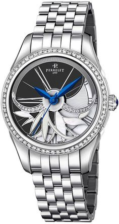 Perrelet Watch Diamond Flower Amytis #add-content #bezel-diamond #bracelet-strap-steel #brand-perrelet #case-depth-12-3mm #case-material-steel #case-width-36-5mm #delivery-timescale-1-2-weeks #dial-colour-black #gender-ladies #luxury #movement-automatic #official-stockist-for-perrelet-watches #packaging-perrelet-watch-packaging #style-dress #subcat-diamond-flower #supplier-model-no-a2066-7 #warranty-perrelet-official-2-year-guarantee #water-resistant-50m