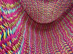 太糸コットンチェア V-WAVE編み