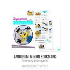 Amigurumi Minion Bookmark crochet pattern by Supergurumi