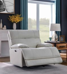 Coaster Furniture Stanford White Power glider recliner in white top grain leather / pvc Power glider recliner Lazy Boy Chair, Lazy Boy Recliner, Best Recliner Chair, Glider Recliner, Lazy Boy Furniture, Stylish Recliners, Oversized Recliner, Stanford White, Coaster Fine Furniture
