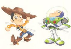 Andy & Buzz from Toy Story