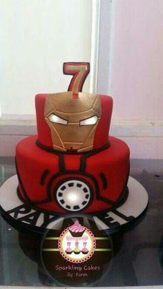 Iron man cake my creations в 2019 г. Birthday Cakes For Men, Cakes For Boys, Birthday Parties, 5th Birthday, Birthday Ideas, Pastel Mickey, Iron Man Party, Ironman Cake, Iron Man Birthday