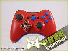 Brand New Pre-Designed Custom Xbox 360 Controller with Red Evil D-Pad