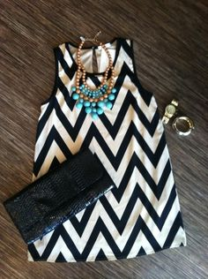 <3 black and white zigzags