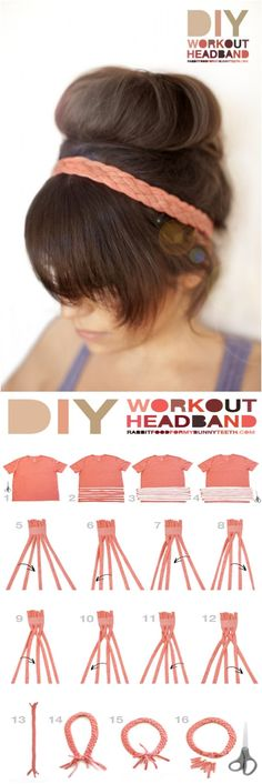 "Healthy Motivation : Illustration Description DIY Workout Headband ""The difference between the impossible and the possible lies in a person's determination"" ! Whispy Hair, Bijou Box, Workout Headband, Diy Headband, Headband Tutorial, Flower Headbands, Bow Tutorial, Flower Tutorial, Baby Turban"