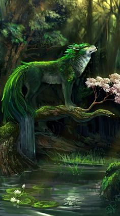 Wolf of the Woods. He who watches over nature and he who punishes those who dare…