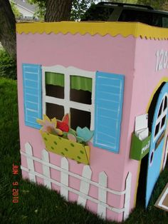 while you're gardening in the yard, the kids can play house!