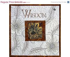 Sale Art Quilted Wall Hanging Inspirational Word Wisdom