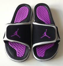 309423624c46c0 New Nike Jordan Hydro 2 Sz 11 US Men Sandal 312527-026 Black Laser Purple