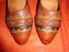 Vintage Pumps - Schuhe*Ballerinas*Vintage*braun*Leder*37*Pumps* - ein Designerstück von SweetSweetVintage bei DaWanda