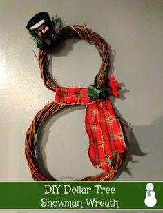 #DIY Dollar Tree Snowman Wreath