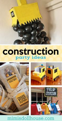 18 Buildable DIY Construction Party Ideas Looking for some awesome construction party ideas? This post is full of creative and easy construction party ideas, construction birthday party decorations, construction party favors and more! Boys First Birthday Party Ideas, Third Birthday, 3rd Birthday Parties, Birthday Party Decorations, Boy Birthday Themes, Construction Party Favors, Construction Birthday Parties, Under Construction Theme, Construction Birthday Invitations