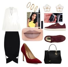 """""""professional"""" by cu30rry ❤ liked on Polyvore featuring Boohoo, Vince, Sam Edelman, MICHAEL Michael Kors, Puma, Jeffree Star, BMW, Yves Saint Laurent, Accessorize and H&M"""