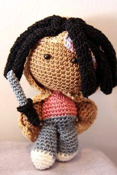 The Walking Dead: Michonne Crochet Doll | deadcraft - Crochet on ArtFire