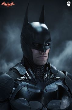 Batman Arkham Knight : Batman - Partial Modeling,hires sculpting texturing , surfacing - Bruce Wayne head by James Ku