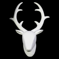 Urban Trends Collection Wall Mount Deer Head Matte Finish White | from…