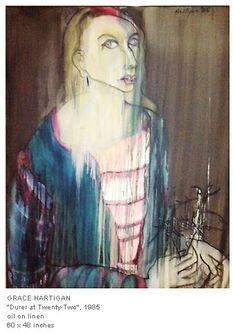 Available for sale from C. Grimaldis Gallery, Grace Hartigan, Durer at Twenty-Two Oil on linen, 60 × 48 in Lee Krasner, Portrait Art, Portraits, Expressions, Henri Matisse, Figure Painting, Art World, Figurative Art, New Jersey