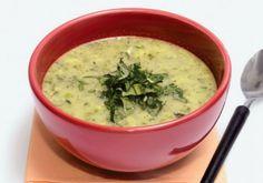Receita de Sopa de cará com talos de brócolis - Sopa e caldo - Dificuldade: Fácil