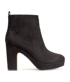 High Heel Black Boots (10,5cm) - H&M
