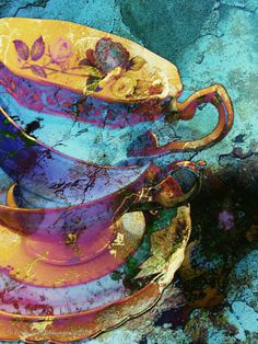 """Six months or so ago, I wrote about my madness for collecting here. Amongst the subjects I """"collect"""" were my mobile photography series of stacked teacups and saucers a la Alice in Wonde…"""