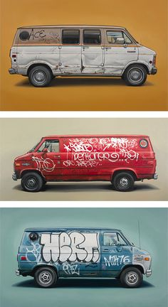 Vehicle Paintings by Kevin Cyr (http://kevincyr.net/)