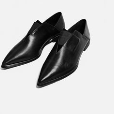 POINTED FLAT STRETCH LEATHER SHOES-View all-SHOES-WOMAN   ZARA United States