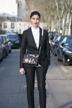 Pin for Later: 38 Flawless Street Style Looks From Paris Haute Couture Week Street Style at Paris Haute Couture Fashion Week Spring 2016 Caroline Issa wearing Dior.
