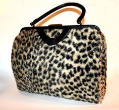 Kelly Style Faux leopard fur purse handbag by funkydigsclothing, $85.00