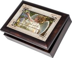 Amazon.com: Cottage Garden Guardian Angel In The Garden Burlwood Inlay Italian Style Music Musical Jewelry Box Plays Amazing Grace: Toys & Games