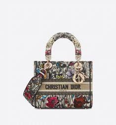 Christian Dior, Lady Dior, Sneakers Multicolor, D Lite, Sacs Design, Womens Designer Bags, Designer Handbags, Dior Sneakers, Embroidery Bags