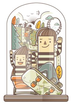 12 WAYS TO LIVE HAPPILY :) l Graphic Illustrations on Illustration Served