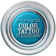 Maybelline Eye Studio Color Tattoo Eyeshadow in Tenacious Teal: $10