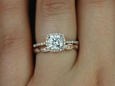 This is so beautiful. I especially love the wedding band. Would prefer a bit smaller engagement diamond though