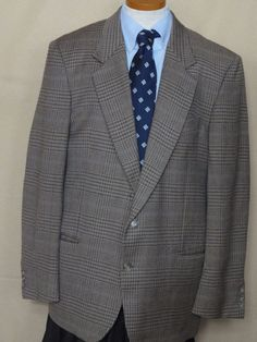 Valentino Uomo Multi-Color Houndstooth Wool 2 Button Sport Coat 42R #Valentino #TwoButton