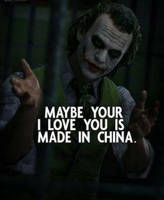 Joker Love Quotes, Psycho Quotes, Gangsta Quotes, Badass Quotes, Positive Attitude Quotes, Good Thoughts Quotes, Mood Quotes, Girl Quotes, Woman Quotes