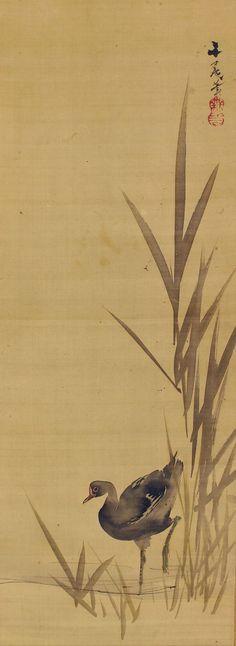 Antique Japanese Fine Art Wall Hanging Scroll от SakuraAntiques