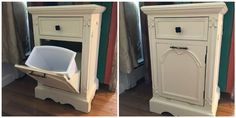 Hide Your Trash Can with a Tilt-Out Cabinet