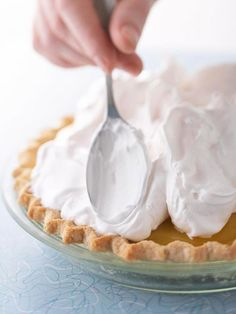 Feathery, light meringue topping that melts in your mouth is easy to make using these simple steps. Try our meringue recipe and step-by-step help for how to make meringue for any pie recipe. Pie Recipes, Sweet Recipes, Baking Recipes, Dessert Recipes, Baking Tips, Pavlova, How To Make Meringue, Perfect Meringue, Best Meringue Recipe