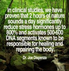 I've always believed that Nature heals.. now I know studies have proven it's  true.😊